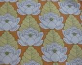 Amy Butler Lotus Pond Flower in Tangerine Orange AB21 - 1 yard