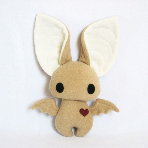Dexter the Bat in Tan and Cream