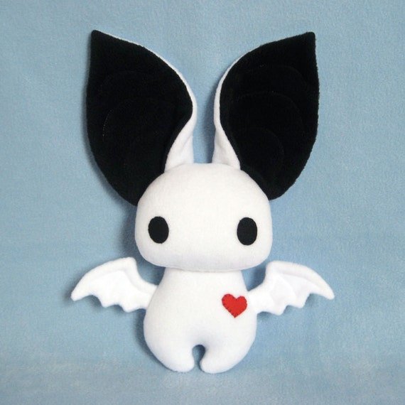 Dexter the Bat in White and Black