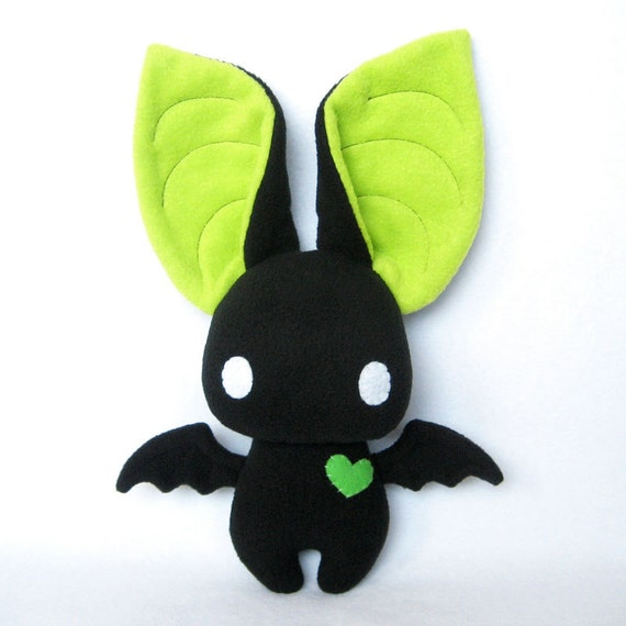 Dexter the Bat in Black and Lime