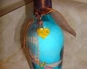 Lavender Bath Salts in OOAK Bottle