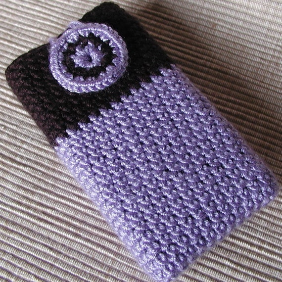 Free Crochet Pattern For Cigarette Case : Items similar to Crochet Cell Phone cozy, Ipod cover (No1 ...