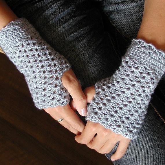 Crocheted Fingerless Mittens - PDF Crochet Pattern