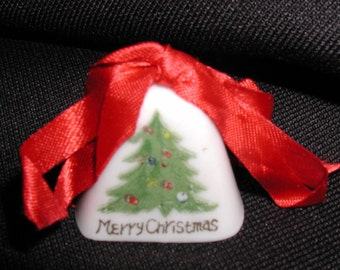 """Vintage Hand Painted """"Merry Christmas"""" Bell"""