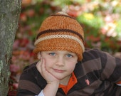 Naturals Brown and Rust Beanie Stocking Cap Photo Prop Child 2-4 years