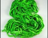 Silk Sari ribbon called Happy Lime