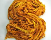 Silk Sari Ribbon Aztec Gold HALF skein