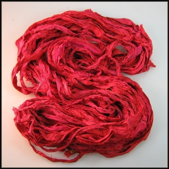 WH Silk Sari Ribbon Burning Embers