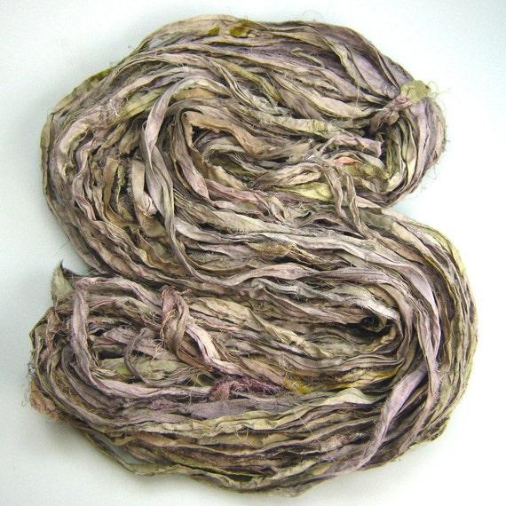 Silk Sari Ribbon Called Stone NEW HALF skein