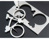 1pcs stainless steel pendant-A bicycle