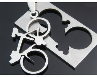 10pcs stainless steel pendant-A bicycle