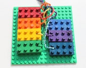 Recycled Crayola Crayons- LEGO Block Crayons on a Rope- Upcycled- Bright Rectangles for Textured Rubbings or Preschool Art