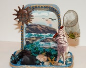"Altered Altoid Tin Assemblage Art    ""Souvenirs"""