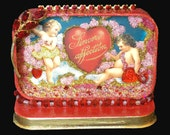 Valentine Art in Altered Tin Shadow Box