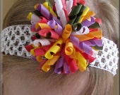 SALE BUY ANY 3 GET 1 FREE M2M Gymboree Fairy Fashionable Korker Bow on Clip with Crochet Headband