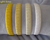 YOU CHOSE ONE Shades of Yellow and White Woven Headband --- More Pics