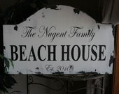 Rustic Custom Beach House  PERSONALIZED wood sign