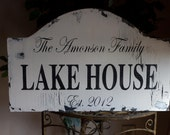 Custom Rustic PERSONALIZED Lake House sign