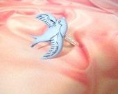 Retro Song Bird Ring