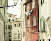 """French Street Provence Beige Rust Wine Wooden Shutters France Travel Photography Apartments  """"Dare to Be Different"""""""