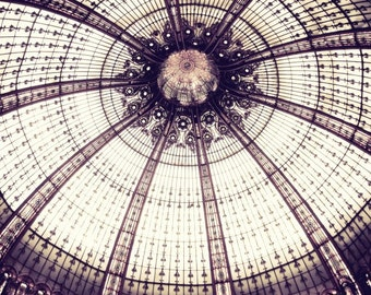 Paris photography geometric wall art print mauve plum architecture paris photography 'Sea Urchin Ceiling'
