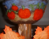 Bowl Needle Felted Earth Friendly Wool Art Bowl Large FREE SHIPPING by Artist Karen Clothier
