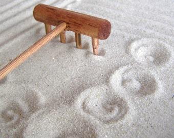 Mini tabletop Zen Garden Rake - Handmade in Oregon U.S.A.- Plain Jane