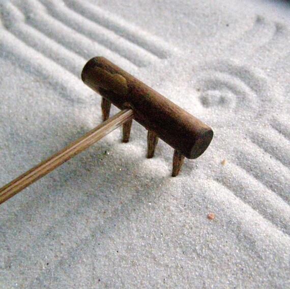 Mini Tabletop Zen Garden Rake Handmade In Oregon U S A No