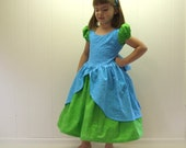 Cinderella's BEAUTIFUL stepsister DRIZELLA  ball gown boutique dress in blue and green for your spunky little villain, heroine, or princess