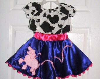 FancyNancy Posh Puppy poodle skirt boutique set by Tinkerella Creations custom in any size from 12 mos to 6 years