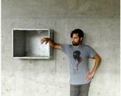 To Catch a Thief - mens t shirt - SMALL - Les Vampires screenprint on American Apparel heather gray tshirt
