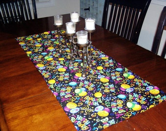 Happy Birthday Table Runner
