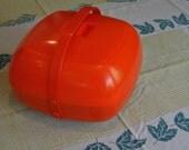 Vintage Picnic Set Orange Plastic