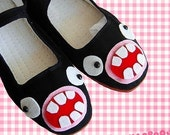 Googly Eyed Monster Mary Jane Shoes - Size 10