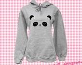 Panda Hooded Sweater - Sleepy Bear Sweatshirt - (Sizes S, M, L, XL)