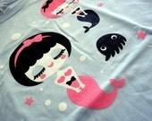 Mermaid Sisters Ladies T-Shirt - Size Small