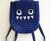 Monster Bag - CUTE Blue Backpack