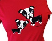 Boston Terrier Shirt - Red DOG T-Shirt - Choose from 1X or 2X