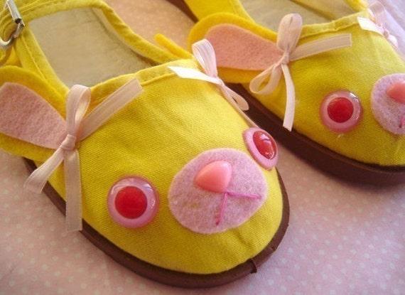 Pink Lemonade Bunny Mary Jane Shoes - Size 6