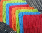 Crochet Cotton Washcloths Dishcloths Handmade - Set of 8 - Crochet Cotton Wash Cloths, Dish Cloths, Dish Rag