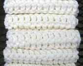 White Washcloths, Dishcloths, Crochet Cotton Handmade -Set of 8- Kitchen Dish Towel, Dish cloth, Dish rag, Handmade