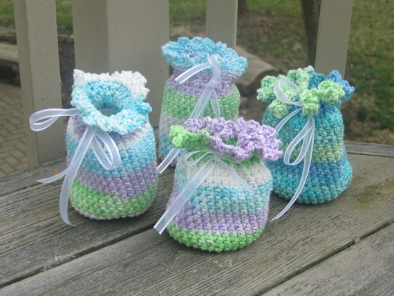 Items Similar To Potpourri Sachet Party Bags Crochet