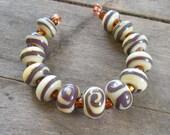 Eggplant Delight Lampwork Beads