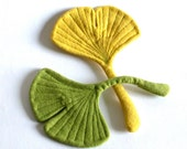 A Pair of Felt Ginkgo Leaves