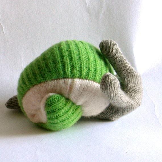 Spring Green Wool & Cashmere Escargot
