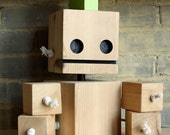 limited edition XL Punk Block Bot made from reclaimed cedar