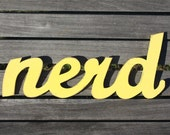 NERD recycled-wood sign