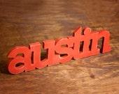 Austin Texas handmade wood sign 24 inches