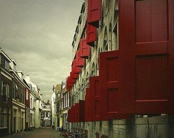 Red Shutters - 11x14 Fine Art Print