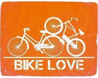 Bike Love - 8x10 Graphic Print
